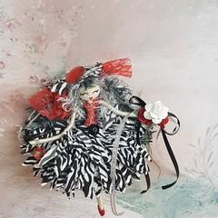 Zebra Print Flower Doll