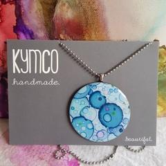 The Blue Confetti Collection - original art resin pendant