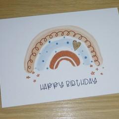 Happy Birthday card - boho rainbow - 2 styles