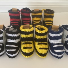 BABY FOOTY BOOTIES - Choose colours for your favourite team - Newborn gift idea