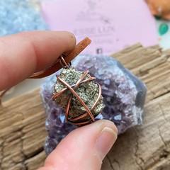 Pyrite Crystal Choker