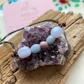 Spirit of Peace, Blue Lace Agate, Angelite and Lepidolite Choker