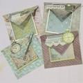Time Gentlemen - handmade cards & envelopes (set of 4)
