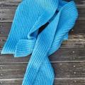 Aqua furrowed scarf