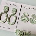 Organic fern earrings
