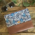 Flat Clutch - Banksia/Brown Faux Leather