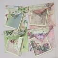 Romantic Roses - handmade cards & envelopes (set of 4)