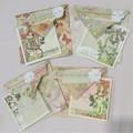 Fairy Garden - handmade cards & envelopes (set of 4)