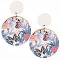 Wood Earrings • Pastel Butterflies • Surgical Steel • Eco Gift Ideas