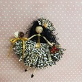 Leopard Print Flower Doll