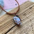 Blue Lace Agate Crystal Choker