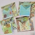 Funky Ocean - handmade cards & envelopes (set of 4)