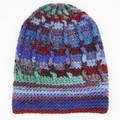 Hat warm winter wool/acrylic crocheted multicolored