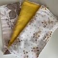 Eco friendly vintage soft flannel and toweling multiple use facewashers, kitchen