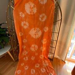 Handmade tie dyed fabric panels - no two alike - circles, bullseye