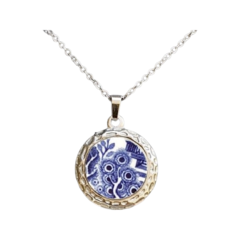 Blue Willow Luna Pendant