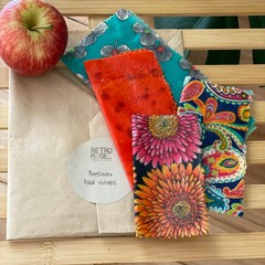 Waxed fabric food wraps