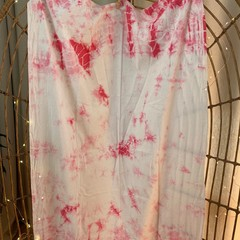Handmade tie dyed fabric panels - no two alike - marble patterns
