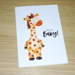 New Baby card - giraffe