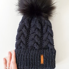 Reserved for Yuly - DOUBLE BRIM GUMNUT BEANIE - Adult - Rustic Graphite