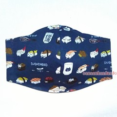 Limited edition one of a kind : Sushi Neko☆3 LYR COTTON FACE MASK