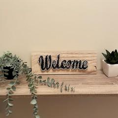 Welcome String Art Sign - Black