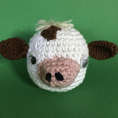 White Cow with Brown Markings - Ball Toy