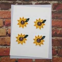 Trifold Card Sunflowers