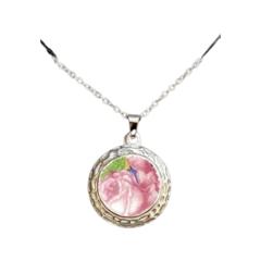 Pink Roses Luna Pendant