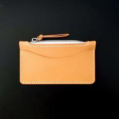 Italian Leather Card Pocket Zip Purse