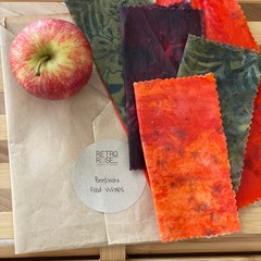 Waxed fabric food wraps - batik patterns