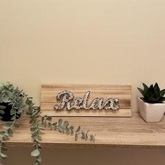 Relax String Art Sign