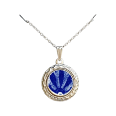 Blue Delft  Luna Pendant