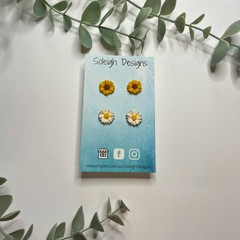Sunflower and Daisy Stud Duo