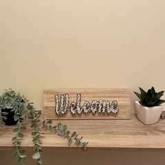 Welcome String Art Sign - White