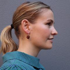 Wire Crochet Pom Poms Earrings