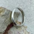 Handmade Sterling Silver Ring - Polish Finish - Half Round