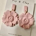 Poppy flower earrings