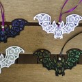 Lace Halloween Bat - 4 different colour combinations