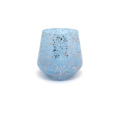 Sky Blue with Rose Gold Speckles
