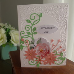 BIRTHDAY CARD FOR MUM - (POSTAGE INCLUDED)