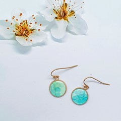 Ethereal Blue Rose Gold Drops
