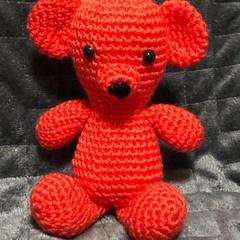 The little orange crochet bear.