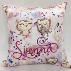 Custom Name Pillows with Owls