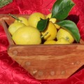 Fruit Bowl in Red Stain and Clear Classic Wax Finish