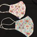Face mask twin pack ,  ladies / teens reversible