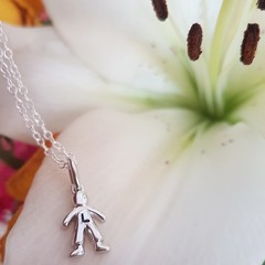 Children Charm Necklace - Personalised - Sterling Silver