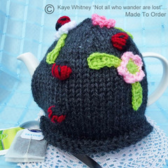 """""""KAYE'S FUNKY TEAPOT COSY COLLECTION!"""" -  """"APPLE BLOSSOMS & LADYBUGS!"""""""