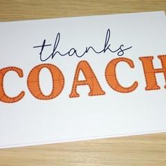 Coach Thank you card - basketball
