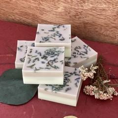 Handmade Two Tone Goats Milk Soap with Brazilian Purple Clay, Lavender & Freesia